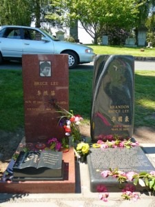 Bruce Lee and Brandon Lee - New Headstones