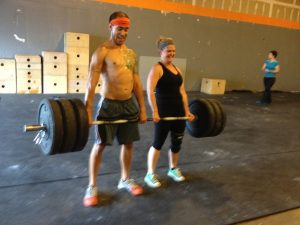 Helping one another at CrossFit Acro